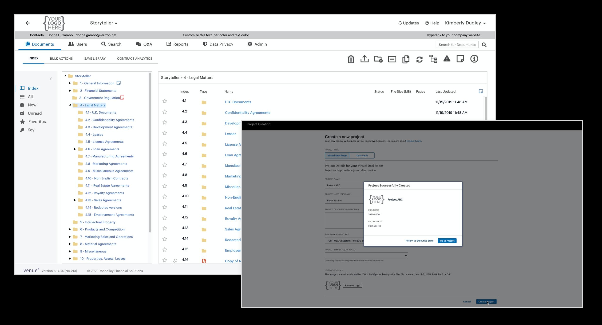 Venue Data Room | A Smarter Virtual Data Room | DFIN