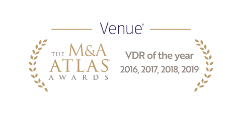 Venue Virtual Data Room Atlas Award